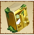Opened safe with gold bars and securities vector image