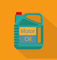 picture of motor oil tank flat style icon vector image