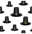 Pilgrim hat background vector image