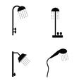 shower head in black vector image