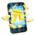 yuan money phone concept vector image