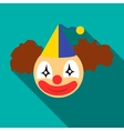 Clown head icon flat style vector image