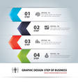 business step paper chart and numb vector image