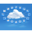 Cloud Computing concept background with icons vector image vector image