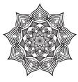 mandala black white relax pattern vector image