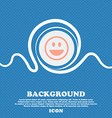 funny Face sign icon Blue and white abstract vector image