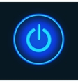 Blue neon button vector image