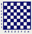 Chessboard with letters and numbers vector image