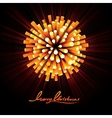 Christmas Fireworks Background vector image