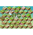 Isometric Accessories for Green City Park Set vector image