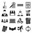 Office teamwork icons set simple style vector image