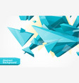 polygonal geometrcial background vector image