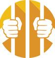 Prison Cell Icon vector image