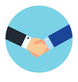 shaking hands business symbol vector image