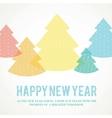 Winter fir trees vector image