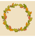 wreath of oak branches vector image