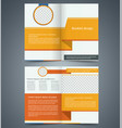 yellow bifold brochure template design vector image