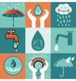 set of retro flat banners - save water vector image vector image