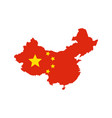 china map and flag vector image