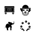circus carnival amusement park simple related vector image