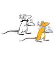 rat waiter vector image