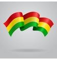 Bolivian waving Flag vector image