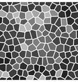 grey wall mosaic vector image vector image