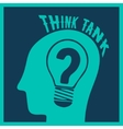 Think tank print vector image