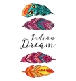 Indian Dream card with ethnic decorative vector image