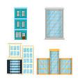 cityscape set elements icons vector image