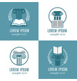 open books and antique columns icons library vector image