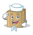 sailor cardboard character character collection vector image