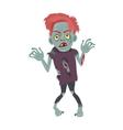 Scary Zombie Man Walking Flat vector image