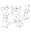 Monkeys Set vector image vector image