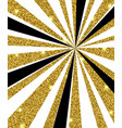 black and golden rays vector image vector image