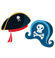 cartoon pirate hats with a vector image