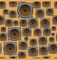 musical speaker seamless pattern vector image