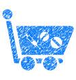 medication shopping cart grunge icon vector image