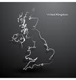 United Kingdom map2 vector image