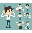 Businessman Stress Pressure Workplace Stick vector image