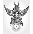 Hand drawn fallen angel Lilith partrait vector image