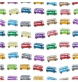 bus pattern on a white background vector image