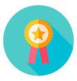 Award Gold medal with Star Circle Icon vector image