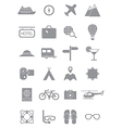 Gray traveling icons set vector image vector image
