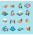 Mobile Shopping Isometric Icons Set vector image