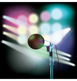 abstract background with microphone and spotlights vector image