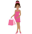 African American Pregnant Woman vector image