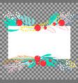 botanical banner vector image