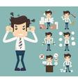 Businessman Stress Pressure Workplace Stick vector image