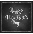 chalk lettering - Valentines Day vector image